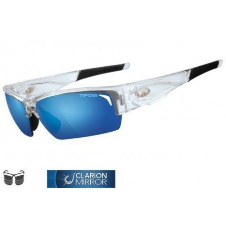 Lunettes de soleil TIFOSI Lore transparent 3 verres interchangeables (Clarion Blue / AC Red / Clear)