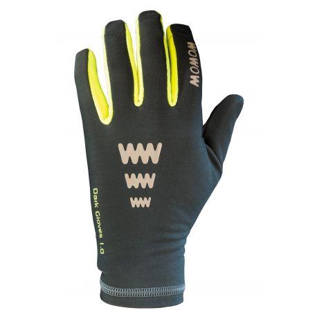 Gants vélo réfléchissants WOWOW Dark Gloves 1.0 gris foncé