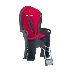 HAMAX Porte bébé kiss suspendu noir - coussin rouge