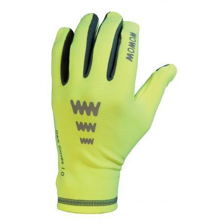 Gants vélo réfléchissants WOWOW Dark Gloves 1.0 jaune