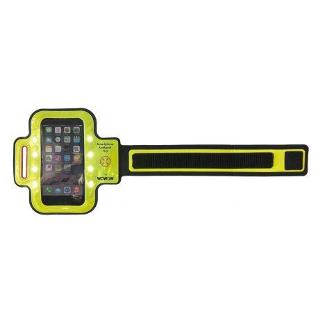 Brassard réfléchissant à LEDS WOWOW armband 3.0 pour Smartphone