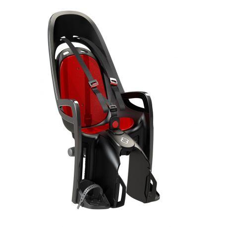 Porte-bébé HAMAX Zenith gris-rouge fixation porte-bagages