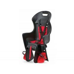 Porte-bébé vélo POLISPORT Boodie Noir/ Rouge fixation porte-bagages