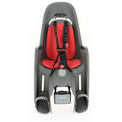 Porte-bébé inclinable HAMAX Zenith Relax gris-rouge fixation cadre