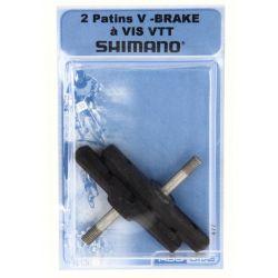 Patins de frein VTT SHIMANO pour V-brake vendus par paire