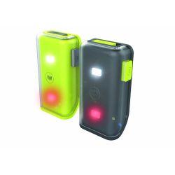 Clip lumineux WOWOW Cliplight à LED blanc et rouge rechargeable par USB
