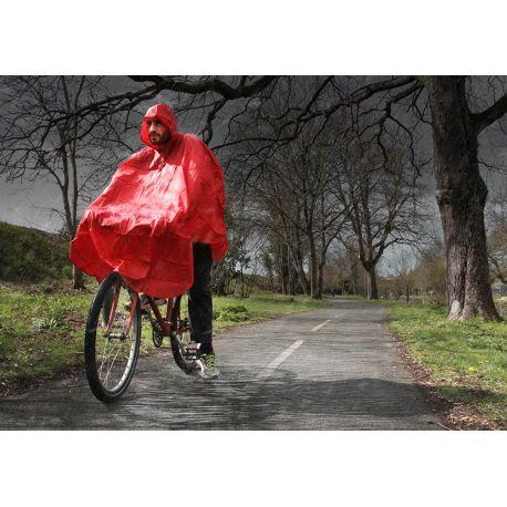 Poncho pluie BIKE ORIGINAL imperméable adulte Rouge Taille L-XL