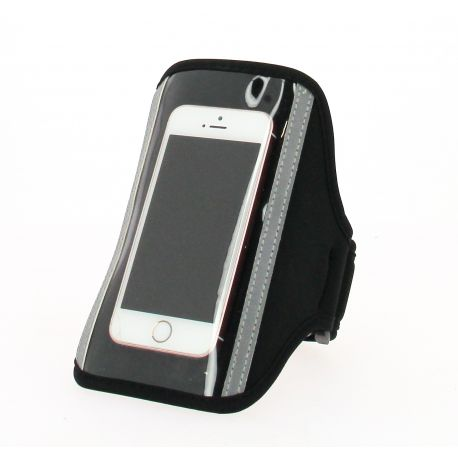 Brassard pour smartphone ADD-ONE en néoprène et PVC diagonale de 14cm tour de bras de 24 à 38cm