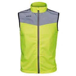 Veste WOWOW 20K Runner jaune fluo fluorescente avec lumière réfléchissante incluse excellente visibilité