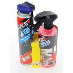 Kit d'entretien AD-1 tout en 1 avec lubrifiant dégrippant 4 en 1 aérosol 400ml nettoyant dégraissant vélo 500ml et éponge