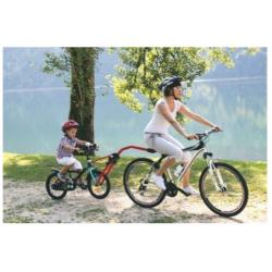 Barre de remorquage vélo enfant PERUZZO Trail Angel rouge modèle assemblée