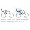 Porte-bébé POLISPORT Koolah à fixation sur cadre gris foncé idéal 29' ou vélos à petits cadres