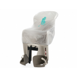 Housse de pluie siège enfant POLISPORT Rain Cover maxi transparente pour tous les sièges enfant arrière POLISPORT