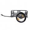 Remorque marchandise vélo BIKE ORIGINAL en acier pliable charge maximale 30kg gris anthracite
