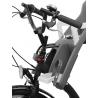 Siège bébé POLISPORT Guppy Mini montage avant sur le tube de direction gris foncé argent Vélos de 26' à 28'
