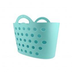Panier Trendy One fixation porte-bagages bleu clair