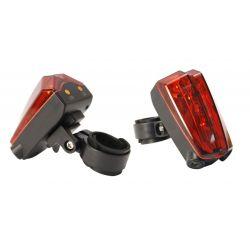 Feu arrière et piste cyclable laser
