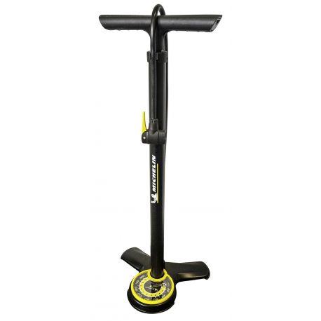 Pompe à pied acier à manomètre
