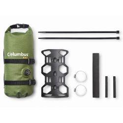 Sacoche de fourche avec support Bikepacking étanche 3,5 litres Green line