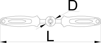 unior Poignée compatible avec :  Outil de taraudage de pédalier BSA 1697 Outil de taraudage de pédalier ITAL 1698 Outil de fraisage de pédalier BSA & ITAL 1699 Outil de fraisage de tube de direction 1694 Jeu d'adaptateurs et de tarauds BSA 1697.3 Adaptateur pour taraud BSA 1697.2/4 Jeu d'adaptateurs et de tarauds ITAL 1698.3 Adaptateur pour taraud ITAL 1698.2/4 Cadre d'alésoir BSA - 1699.2 / 4 Cadre d'alésoir de boitier pédalier BSA & ITA 1699.2 / 4