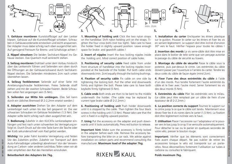 Guide utilisation KLICKfix cintre