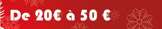 Idées cadeaux pour les budgets de 20€ à 50€