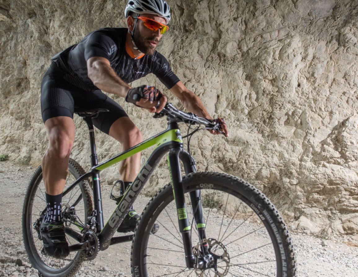 Cuissard à bretelles VTT NALINI AHS Trofeo homme collection été 2018 - Green Label