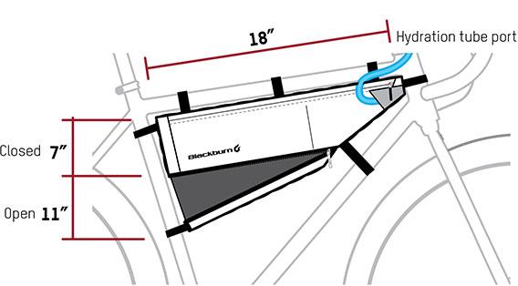Sacoche de cadre BLACKBURN Outpost Frame Bag contenance de 4.3 litres / 5.8 litres extensible