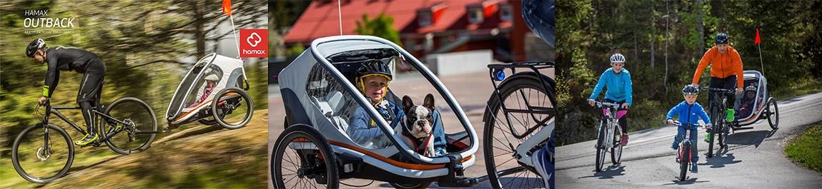 remorque vélo enfants 2-en-1 HAMAX Trailer Outback